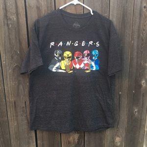 Power Rangers & Friends Crossover shirt XL